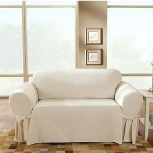 Taupe Loveseat Cover